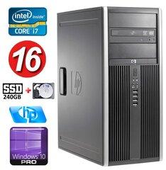 HP 8100 Elite MT i7-860 16GB 240SSD+1TB NVS450 DVD WIN10Pro hind ja info | Lauaarvutid | kaup24.ee