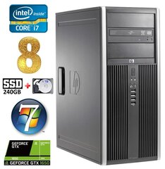 HP 8100 Elite MT i7-860 8GB 240SSD+1TB GTX1650 4GB DVD WIN7Pro hind ja info | HP 8100 Elite MT i7-860 8GB 240SSD+1TB GTX1650 4GB DVD WIN7Pro | kaup24.ee