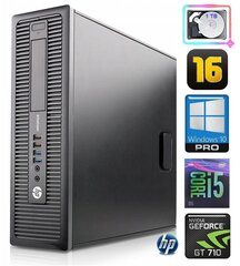 HP 600 G1 SFF i5-4570 16GB 1TB GT710 2GB WIN10Pro hind ja info | HP 600 G1 SFF i5-4570 16GB 1TB GT710 2GB WIN10Pro | kaup24.ee