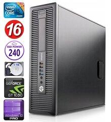 HP 600 G1 SFF i5-4570 16GB 240SSD+1TB GT1030 2GB WIN10Pro hind ja info | HP 600 G1 SFF i5-4570 16GB 240SSD+1TB GT1030 2GB WIN10Pro | kaup24.ee