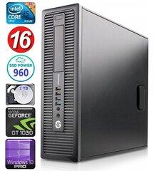 HP 600 G1 SFF i5-4570 16GB 960SSD+2TB GT1030 2GB WIN10Pro hind ja info | HP 600 G1 SFF i5-4570 16GB 960SSD+2TB GT1030 2GB WIN10Pro | kaup24.ee