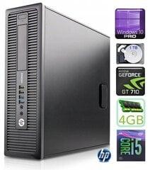 HP 600 G1 SFF i5-4570 4GB 1TB GT710 2GB WIN10Pro hind ja info | HP 600 G1 SFF i5-4570 4GB 1TB GT710 2GB WIN10Pro | kaup24.ee