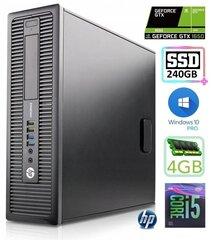 HP 600 G1 SFF i5-4570 4GB 240SSD GTX1650 4GB WIN10Pro hind ja info | HP 600 G1 SFF i5-4570 4GB 240SSD GTX1650 4GB WIN10Pro | kaup24.ee