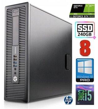 HP 600 G1 SFF i5-4570 8GB 240SSD GTX1650 4GB WIN10Pro