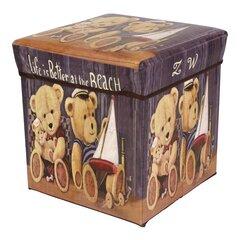 Пуф с ящиком для вещей цена и информация | Кресла-мешки, пуфы | kaup24.ee
