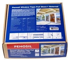 Aknatihendusteip välis PENOSIL 7 cm hind ja info | Isolatsiooni- ja tihendus pakkematerjal | kaup24.ee