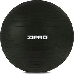 Võimlemispall Zipro koos pumbaga, must hind ja info | Võimlemispallid | kaup24.ee