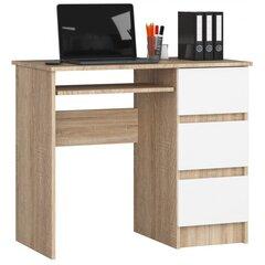 Kirjutuslaud Nore A6, parempoolne, tamme värv/valge hind ja info | Arvutilauad, kirjutuslauad | kaup24.ee