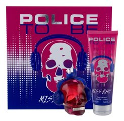 Komplekt Police To Be Miss Beat naistele: EDP 75 ml + ihupiim 100 ml