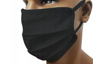 Korduvkasutatav mask 3-kihiline, must hind ja info | Korduvkasutatav mask 3-kihiline, must | kaup24.ee