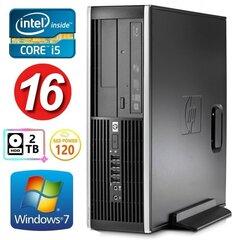 HP 8100 Elite SFF i5-750 16GB 120SSD+2TB NVS295 DVD WIN7Pro hind ja info | HP 8100 Elite SFF i5-750 16GB 120SSD+2TB NVS295 DVD WIN7Pro | kaup24.ee