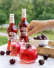 Kirsimaitseline limonaad, 500ml, klaaspudel Pant D hind ja info | Külmad joogid | kaup24.ee