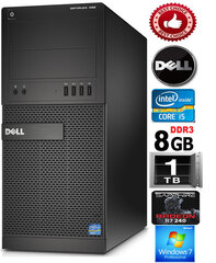Dell Tower XE2 i5-4570 3.2Ghz 8GB 1TB HDD R7240 2gb DVD-RW Windows 7 Professional hind ja info | Dell Tower XE2 i5-4570 3.2Ghz 8GB 1TB HDD R7240 2gb DVD-RW Windows 7 Professional | kaup24.ee