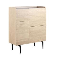 Puhvetkapp Actona Connect, 99,9 cm, pruun/must hind ja info | Vitriinkapid | kaup24.ee