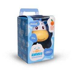 Meravita AMMUU vitamiinid+oomega-3 lastele, sinine N70 hind ja info | Vitamiinid ja mineraalid tervise parandamiseks | kaup24.ee