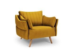 Tugitool Interieurs86 Elysee, kollane/pruun hind ja info | Tugitoolid | kaup24.ee