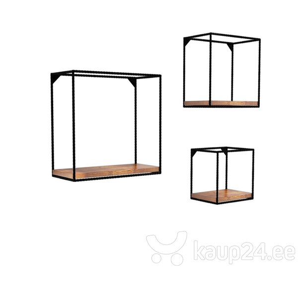 Seinariiul Kalune Design Fato, pruun/must hind ja info | Riiulid | kaup24.ee