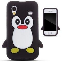 Kaitseümbris Zooky sobib Samsung Galaxy Ace S5830, 3D pingviin, must