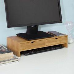 Monitorialus SoBuy FRG198-N, pruun hind ja info | Arvutilauad, kirjutuslauad | kaup24.ee