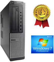 Dell Optiplex DT 790 i5-2400S 4GB 240GB SSD 500GB HDD DVDRW Windows 7 Pro hind ja info | Dell Optiplex DT 790 i5-2400S 4GB 240GB SSD 500GB HDD DVDRW Windows 7 Pro | kaup24.ee