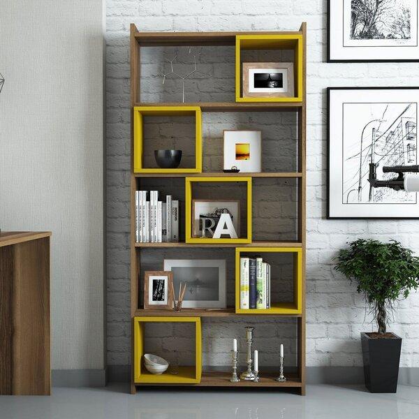Eraldiseisev riiul Kalune Design Box II, pruun/kollane Internetist