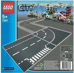 7281 LEGO® CITY T-Junction & Curved Road Plates