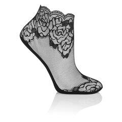 Naiste pitsilised lühikesed sokid MONA CS16 (Must) hind ja info | Naiste sokid | kaup24.ee