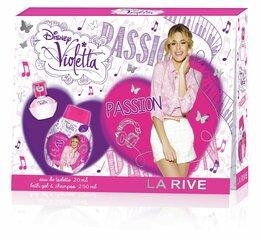 Komplekt La Rive Violetta Passion: EDP tüdrukutele 20 ml + dušigeel/šampoon 250 ml
