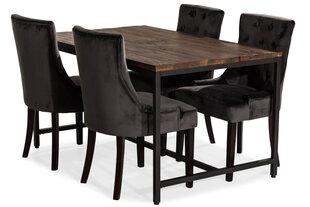 Söögitoa komplekt VG6163, must/pruun hind ja info | Köögimööbel | kaup24.ee