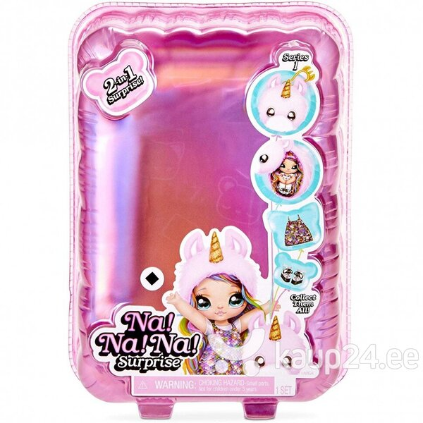 Na! Na! Na! Surprise 2-in-1 Fashion Doll & Plush Pom with Confetti Balloon soodsam