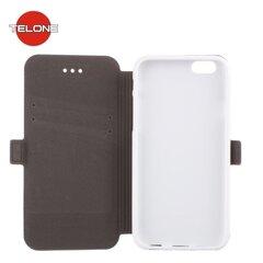 Kaitseümbris Telone Super Slim Shine Book Case sobib Samsung Galaxy A5 A500, valge