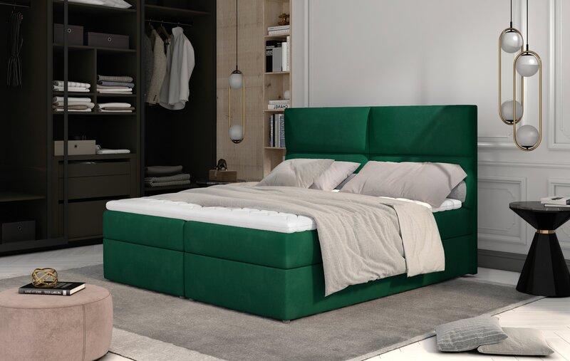 Кровать NORE Amber, 160x200 см, зеленая