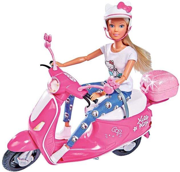 Nukk mootorrattaga Simba Steffi Love hind ja info | Tüdrukute mänguasjad | kaup24.ee