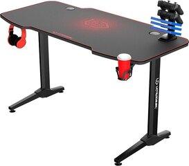 Mängurilaud Ultradesk Frag Red, must/punane hind ja info | Arvutilauad, kirjutuslauad | kaup24.ee