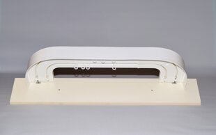 Laekarniis 2 siiniga (tervik) valge, 145 cm hind ja info | Kardinapuud | kaup24.ee