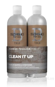Komplekt Tigi Bed Head For Men Clean It Up: šampoon 750ml + palsam 750ml hind ja info | Komplekt Tigi Bed Head For Men Clean It Up: šampoon 750ml + palsam 750ml | kaup24.ee