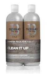 Komplekt Tigi Bed Head For Men Clean It Up: šampoon 750ml + palsam 750ml