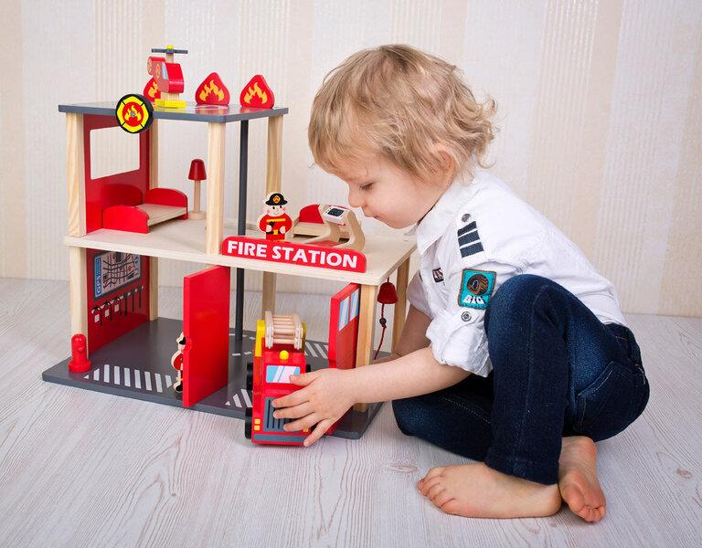 Puidust tuletõrjejaam Bino Internetist
