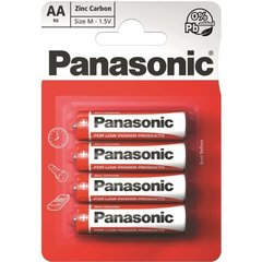 Батарейки Panasonic RED Zinc R6 (AA) 4BP M1121