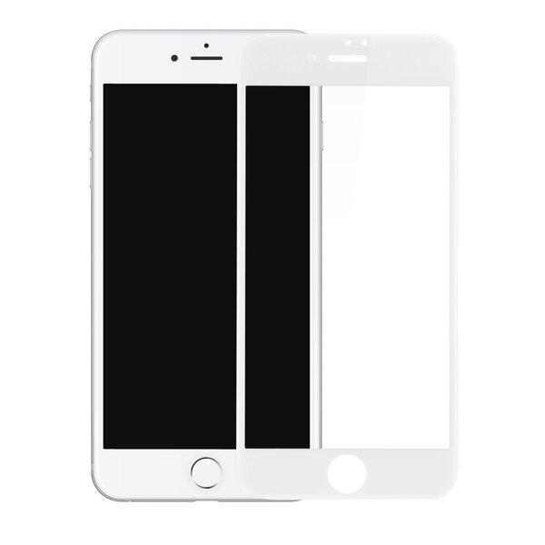 Ekraani kaitseklaas telefonile iPhone 7/8 WHITE Tempered glass Full Glue, Full Cover SOUNDBERRY hind ja info | Ekraani kaitsekiled | kaup24.ee