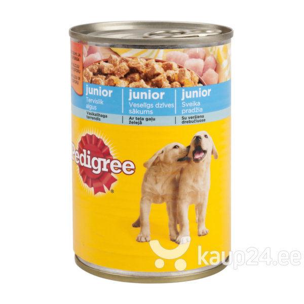 Pedigree Junior konserv vasikalihaga tarrendis, 400 g