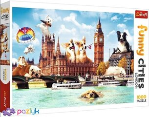 Pusle Trefl Funny Cities - Dogs In London, 1000 tk. hind ja info | Pusled | kaup24.ee