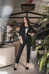 Naiste komplekt topp, jakk ja püksid, must hind ja info | Naiste kostüümid | kaup24.ee