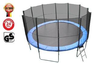 Батут Lex XXL диаметром 5 м, + лестница + Защитная сетка + Чехол от дождя