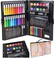 Набор для рисования и творчества с чемоданом, 86шт. цена и информация | Принадлежности для рисования, лепки | kaup24.ee