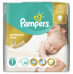 Mähkmed PAMPERS Premium Care 1 suurus, 88 tk