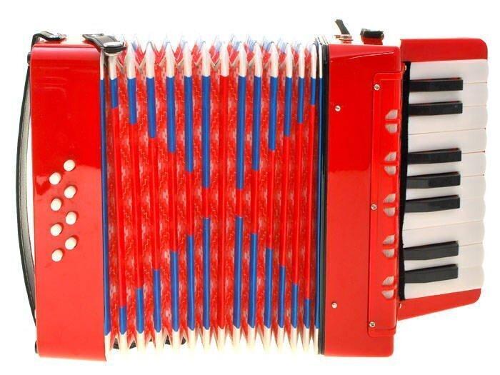 Suur akordion lastele Accordion, punane