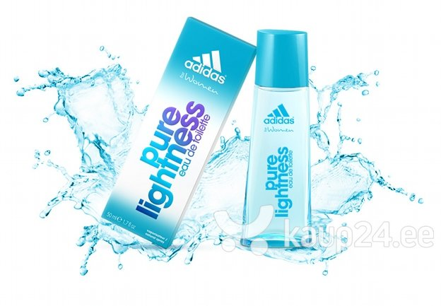 Tualettvesi Adidas Pure Lightness EDT naistele 50 ml Internetist