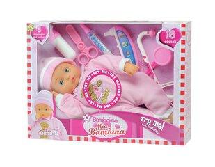Кукла с докторскими принадлежностями и звуками Bambolina Mia Bambina, 33см, BD1308