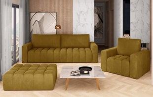 Pehme mööbli komplekt NORE Lazaro 04, kollane hind ja info | Pehme mööbli komplektid  | kaup24.ee